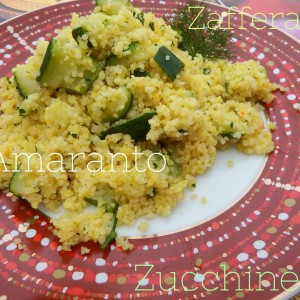 Amaranto con zucchine e zafferano