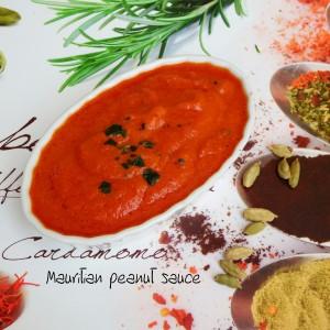 Mauritian peanut sauce - Rougaille pistache