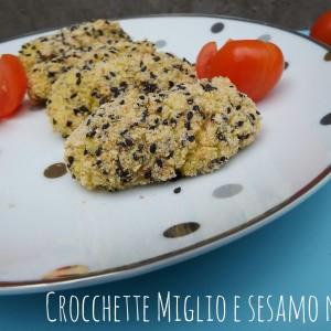 Crocchette miglio zucchine e sesamo nero - ricetta vegan