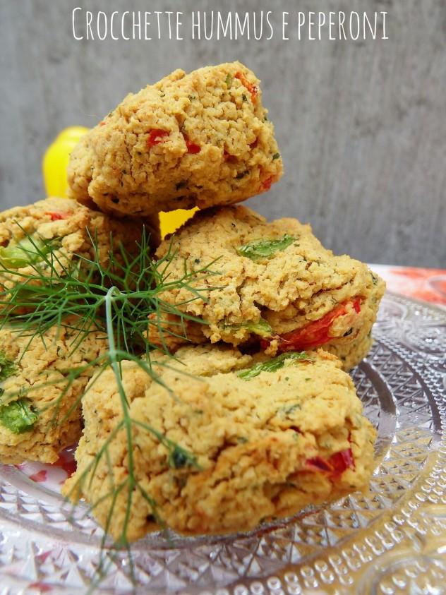 Crocchette hummus e peperoni - ricetta vegan