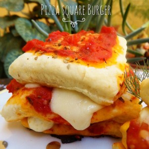 Pizza square burger - panino gourmet