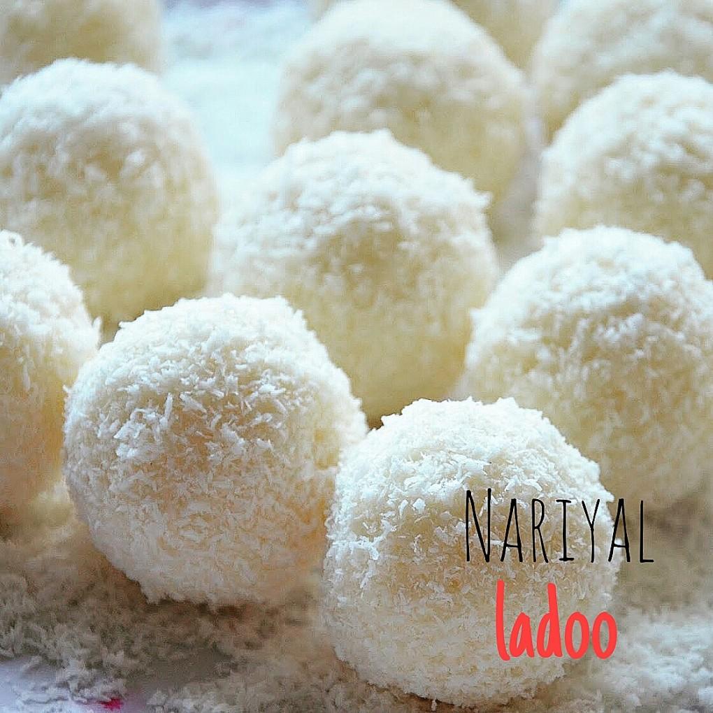 Nariyal ladoo - palline fresche cocco e cardamomo - ricetta indiana