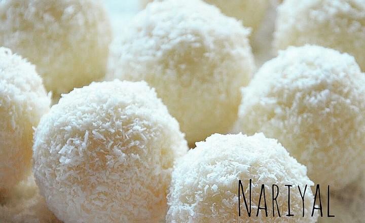 Nariyal ladoo – palline fresche cocco e cardamomo – ricetta indiana