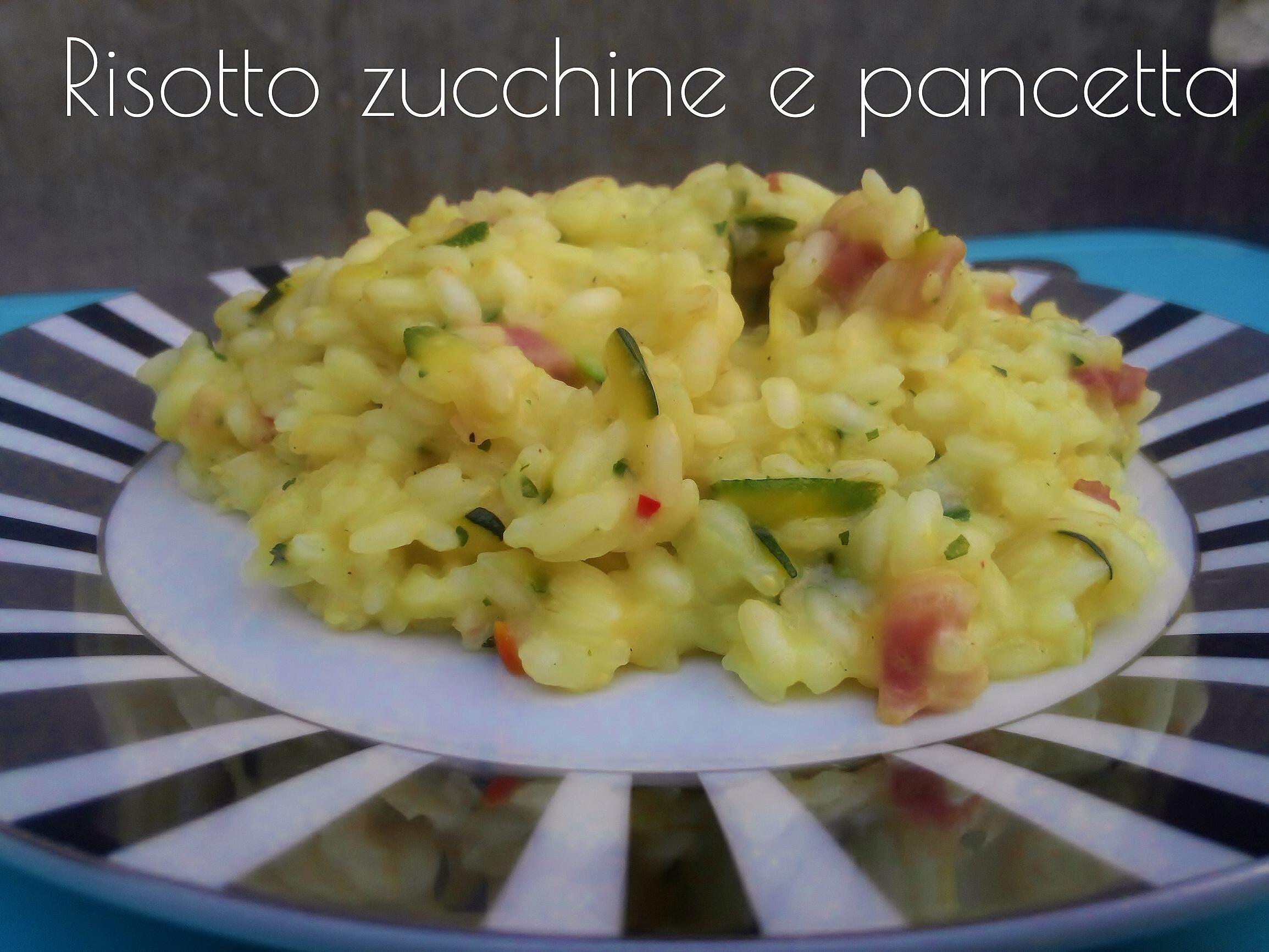Risotto zucchine e pancetta affumicata