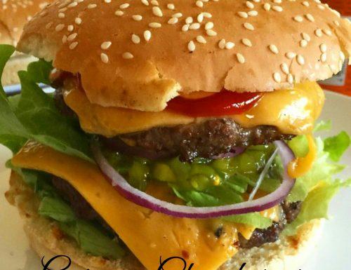 Guinness beer cheeseburger