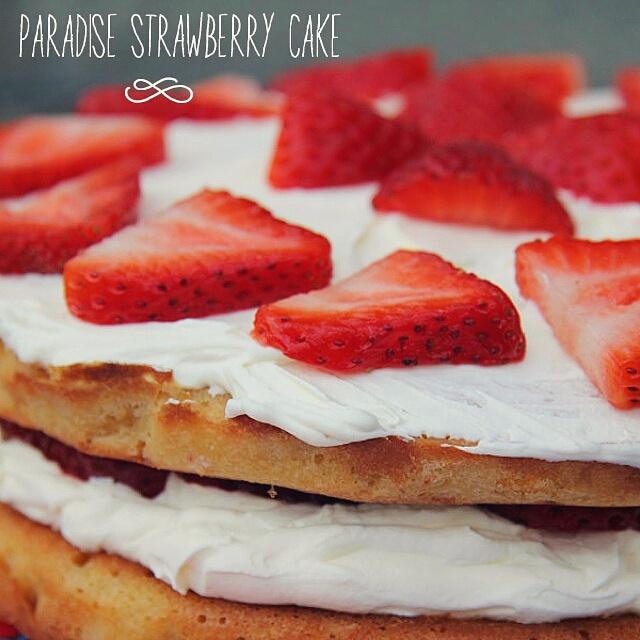 paradise cake fragole e crema allo yogurt