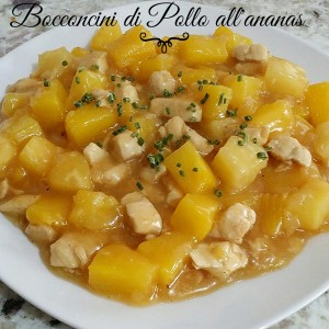 curry di pollo con ananas