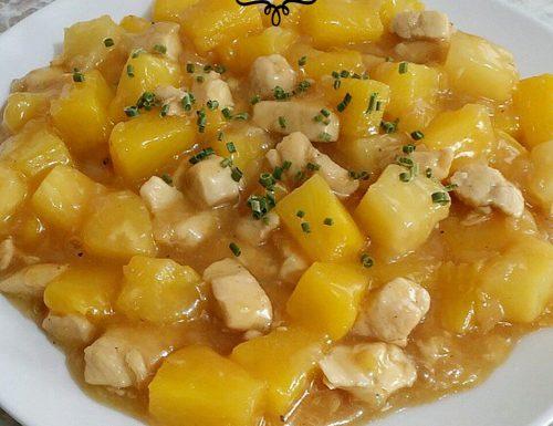 Curry di pollo con ananas – ricetta Thailandia