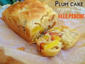 Plum cake vegan alle pesche