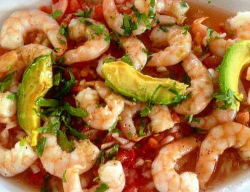 Ceviche di gamberi e avocado – ricetta Perù