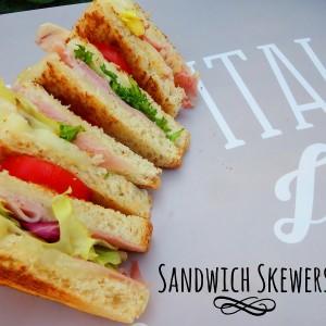 Spiedini di sandwich - Sandwich skewers