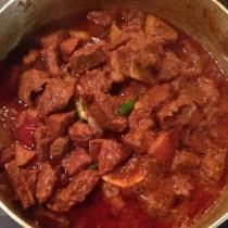 Spezzatino di manzo al curry di Madras