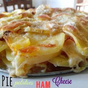 Tortino di patate con prosciutto e formaggio filante