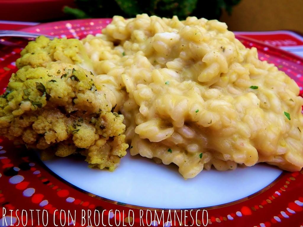 Risotto cremoso con broccolo romanesco