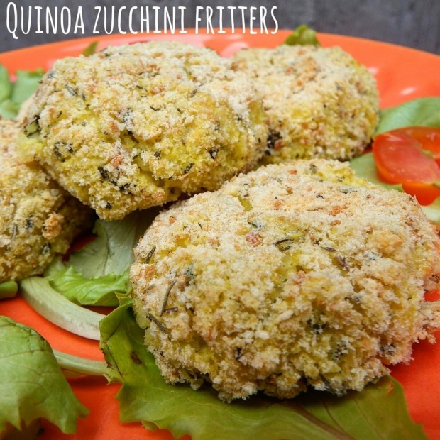Crocchette quinoa e zucchine cotte al forno