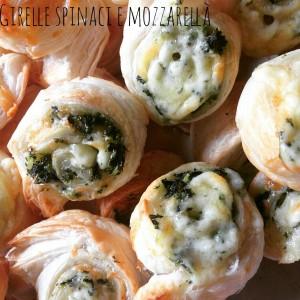 Girelle con spinaci e mozzarella
