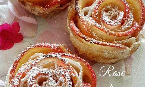 Rose di sfoglia alle mele e crema