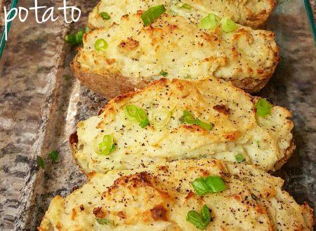 Patate al cartoccio ripiene – Baked potatoes