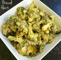 Broccoli al forno filanti