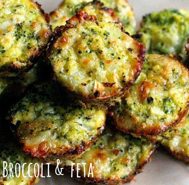 Crocchette di broccoli e feta al forno