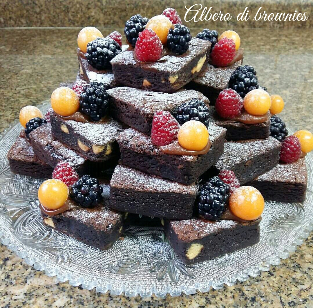 Albero di brownies - ricetta di Natale