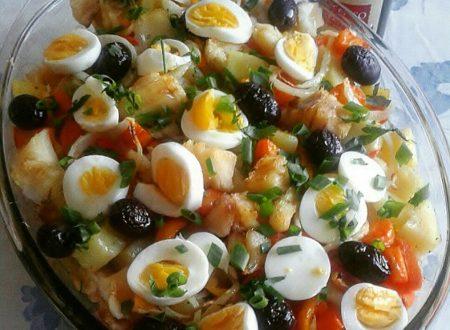 Torta di baccalà e patate – Ricetta bacalhoada