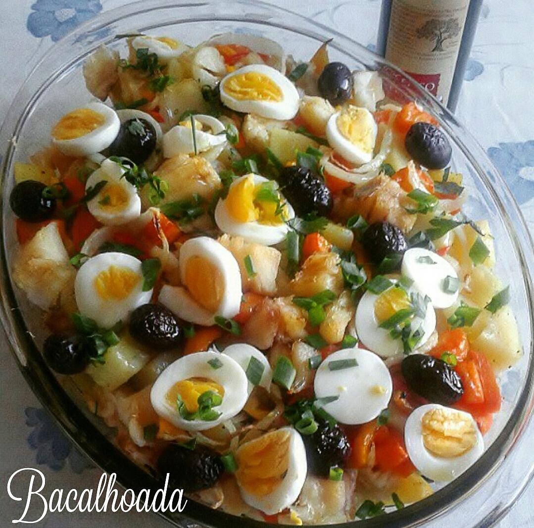 Torta di baccalà e patate - Ricetta bacalhoada