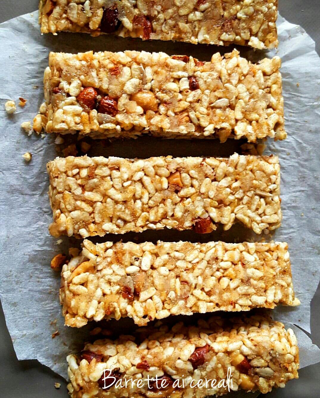 Ricetta barrette ai cereali fatte in casa