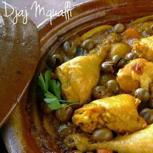 Ricetta Djaj Mqualli - Tajine di pollo alle olive e limone