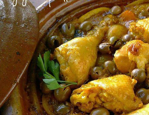 Ricetta Djaj Mqualli – Tajine di pollo alle olive e limone