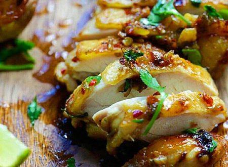 Petto di pollo al bergamotto e zenzero