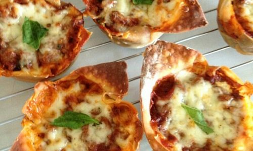 Lasagne cupcake – lasagna monoporzione