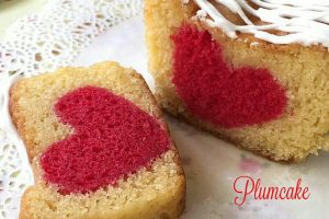 Plumcake allo yogurt con cuore