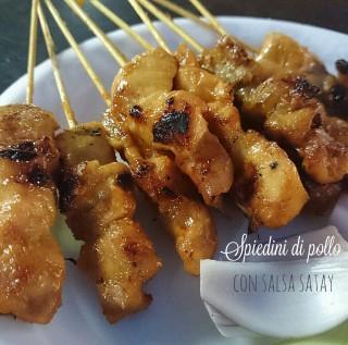 Spiedini di pollo con salsa satay