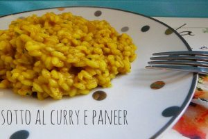 Risotto al curry verde e paneer