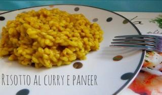 Risotto al curry verde e paneer