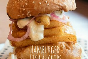 Hamburger fish and chips