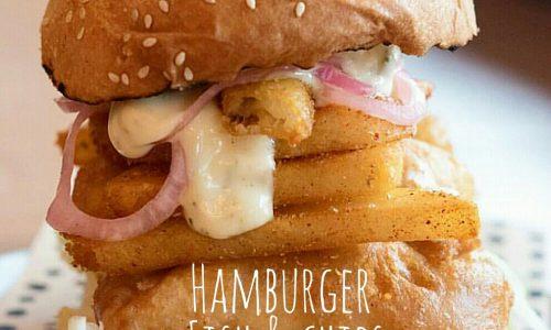 Hamburger fish and chips