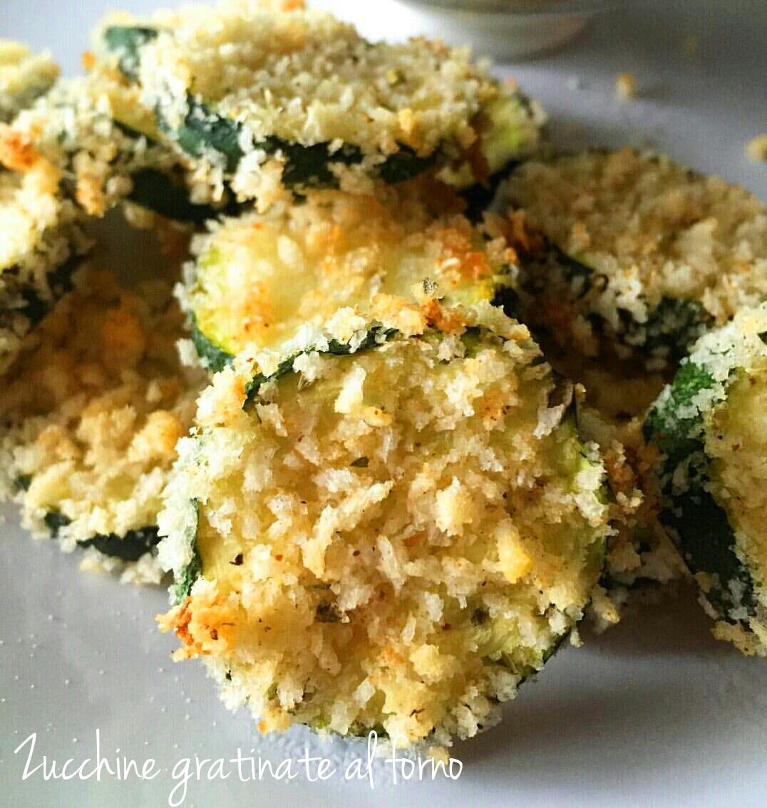 Zucchine gratinate croccanti al forno