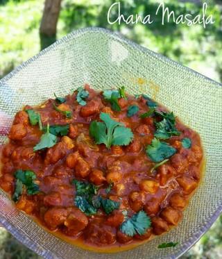 Chana Masala - stufato di ceci - ricetta indiana
