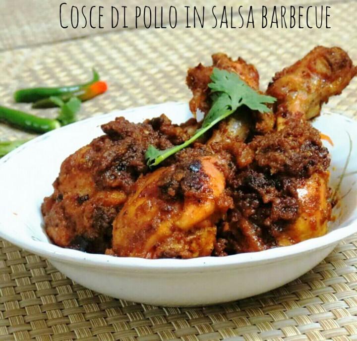 Cosce di pollo in salsa barbecue