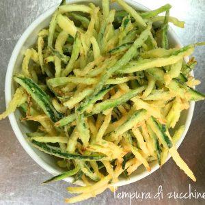 Tempura di zucchine
