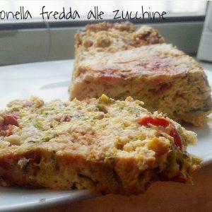 Mattonella salata fredda alle zucchine - ricetta leggera
