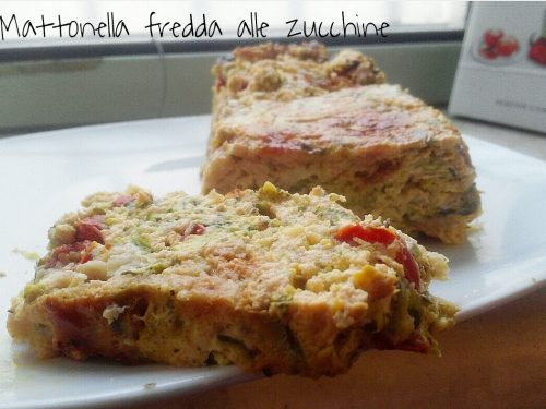 Mattonella salata fredda alle zucchine – ricetta leggera