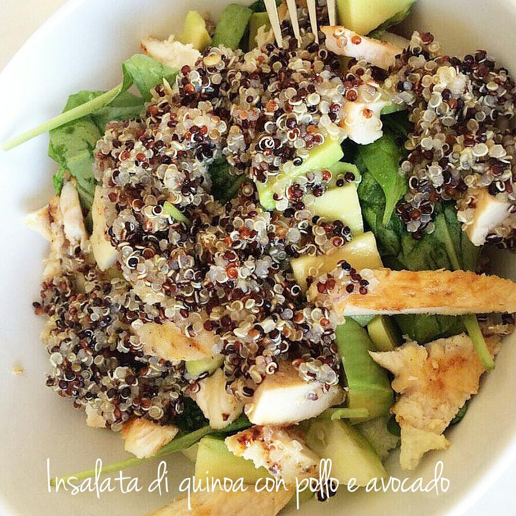 Insalata di quinoa con pollo e avocado i sapori di casa for Insalata da taglio