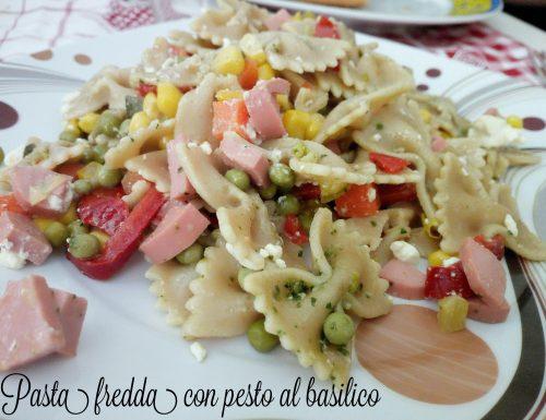 Pasta fredda con pesto al basilico