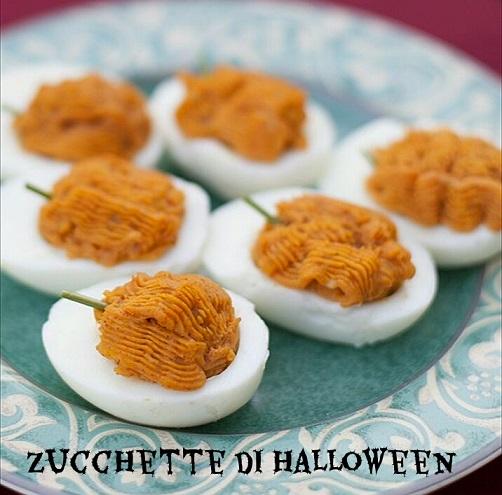 Zucchette di halloween - ricetta antipasto