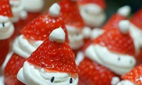 Babbo Natale di fragole e panna – ricetta dolce