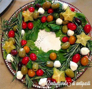 Centrotavola di antipasti - ricetta di Natale