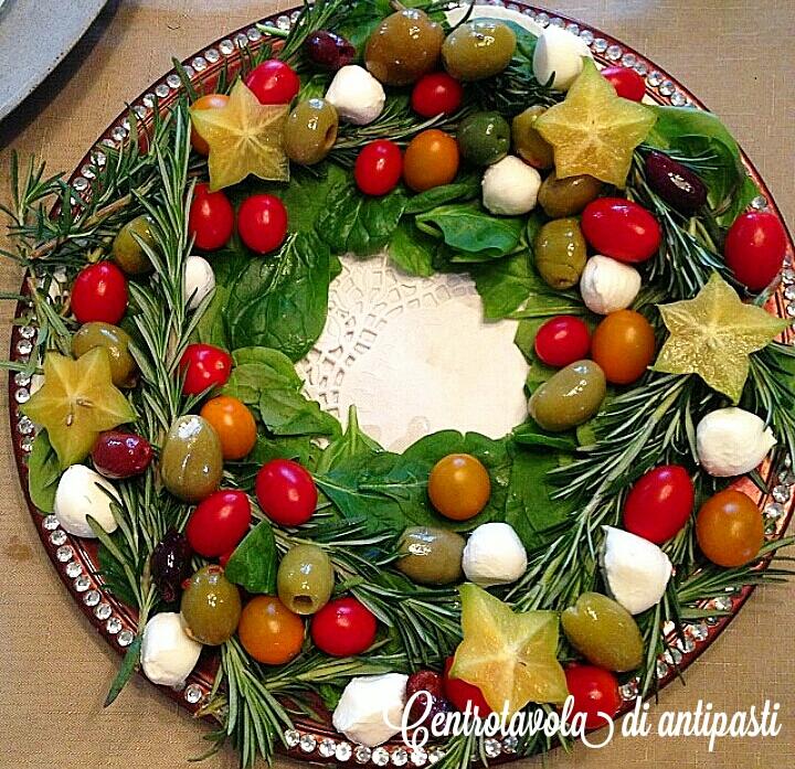 Centrotavola di antipasti ricetta di natale i sapori - Centrotavola natalizi ...